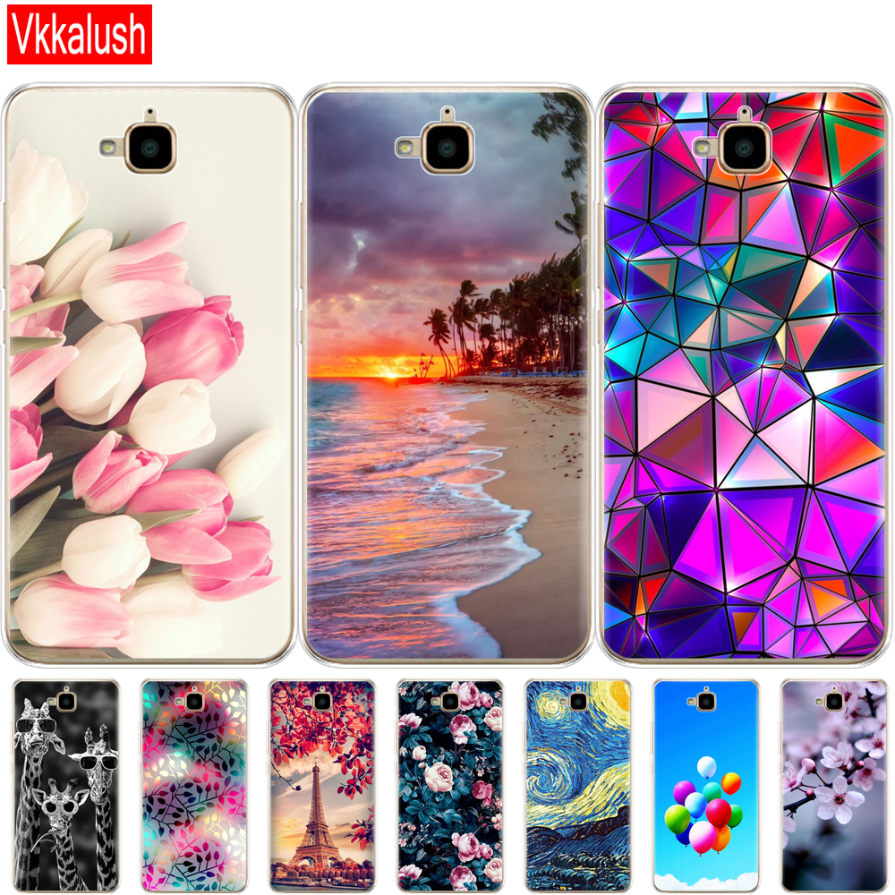 Case For Huawei Honor 4C Pro Case Honor 4C Pro Cover Soft Silicon Cute Case For Huawei Y6 Pro 2015 Case TIT-L01 TIT-TL00 Phone