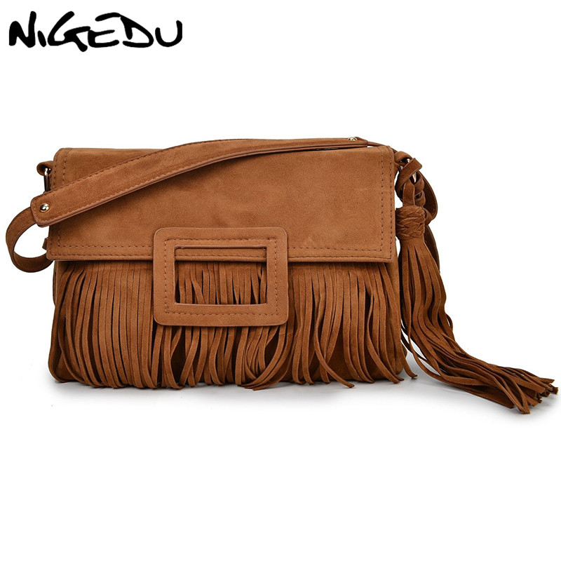 Shoulder Bags Nigedu Brand Design Vintage Women Long Tassel Bag Chain Crossbody Bags For Womensshoulder Messenger Bag Quality Pu Handbags Beautiful And Charming