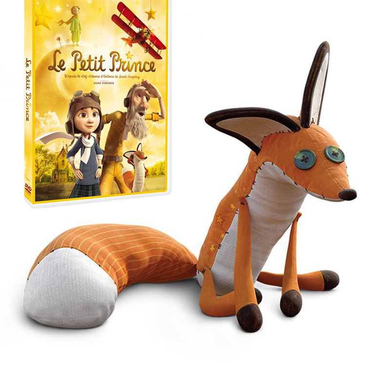 The Little Prince Plush Dolls The Little Prince And The Fox Stuffed Animals Plush Education Toys For Baby WJ361 fancytrader new style giant plush stuffed kids toys lovely rubber duck 39 100cm yellow rubber duck free shipping ft90122