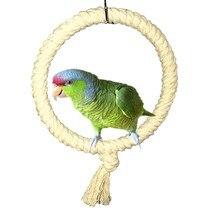Papagaio corda balanço pé barra pássaro animal de estimação mastigando escalada anel de brinquedo para gaiola