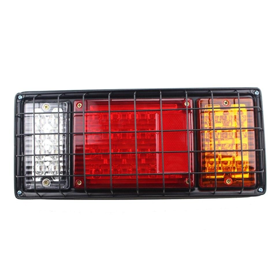 2pcs 12V 80 LEDs Metal Frame Brightness Tail Stop Light Brake Lights Rear Indicator Light For Truck Trailer Waterproof Light 2pcs truck light 4 leds lamp