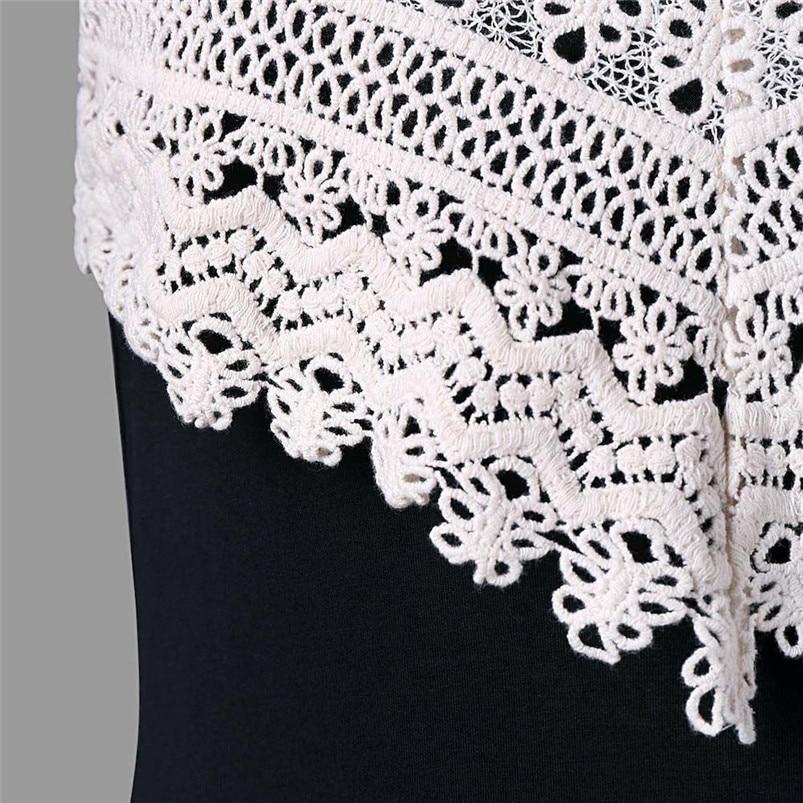 Fashion summer dress 2018 beach dress Womens Crochet Lace Backless Mini Slip Dress Camisole Sleeveless Dress vestidos J08#N (6)