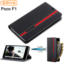 SRHE Xiaomi Pocophone F1 Case Cover For Pocophone F1 Flip Le