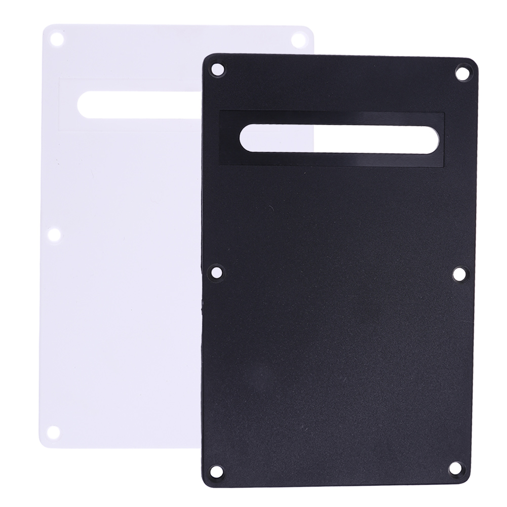 High Quality PVC Pickguard Tremolo Cavity Cover Backplate Back Plate Thickness 2.2mm for Electric Guitar Accessory Black/White musiclily 3ply pvc outline pickguard for fenderstrat st guitar custom