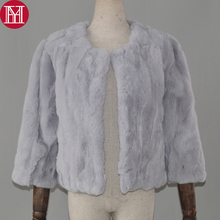 2019 Hot Women Real Natural Rex Rabbit Fur Coat Fashion Short Style Rex Rabbit Fur Jacket Winter Real Rex Rabbit Fur Overcoat cheap REGULAR Double-faced Fur Natural Color O-Neck Real Fur YH-07080 Nine Quarter Covered Button Solid Casual Slim Thick (Winter)