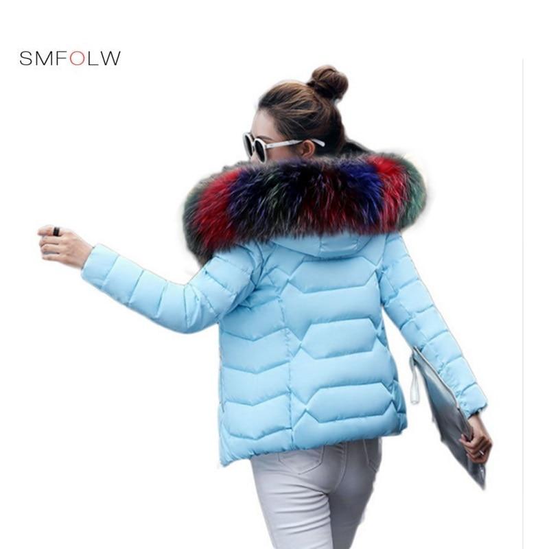 SMFOLW 2018 новая зимняя куртка womenThree виды волосы воротник вниз стеганая куртка Женский Куртка на подкладке из хлопка женские зимние