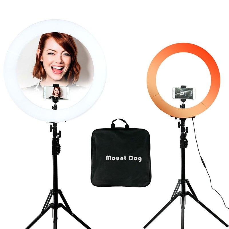 YouTube fotografía luz del teléfono Led luz foto anillo soporte selfie anillo de luz de la lámpara 200 CM trípode estudio fotográfico softbox