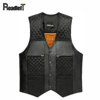 2015 Winter Male Plus Velvet Thicken Warm Vest Waistcoat Men S Patchwork PU Leather Fur Sleeveless
