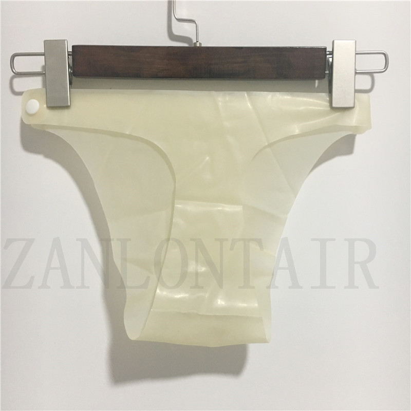 0 25mm thickness new sexy lingerie exotic men male latex safe front hole underpants shorts briefs knickers with buckles one size in Panties from Novelty Special Use