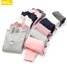 High Quality Kids Thermal Underwear Sets Thick Cotton High Collar Children Warm Suit Clothes Baby Bo
