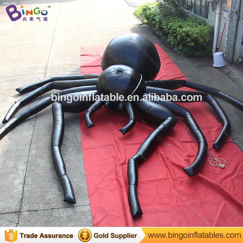 Free Shipping Halloween inflatables giant inflatable black spider 5 meters decoration for outdoor inflatable toys plastic standing human skeleton life size for horror hunted house halloween decoration