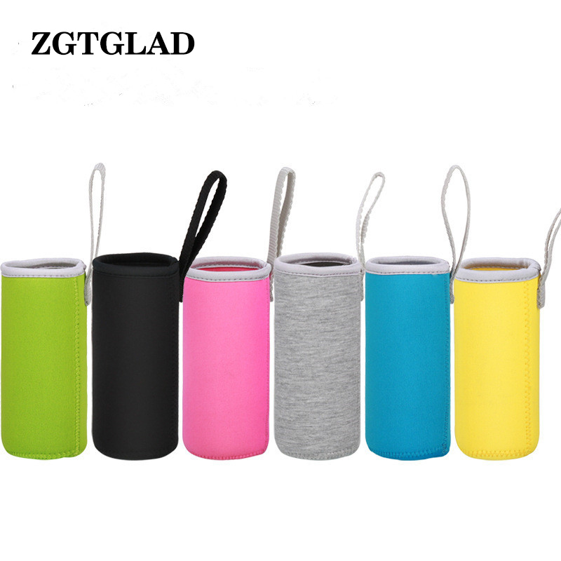 1pcs 550ml Top Quality Sport Water Bottle Cover Elastic Fiber Insulated Sleeve Bag Case Pouch Water Bottle Accesory