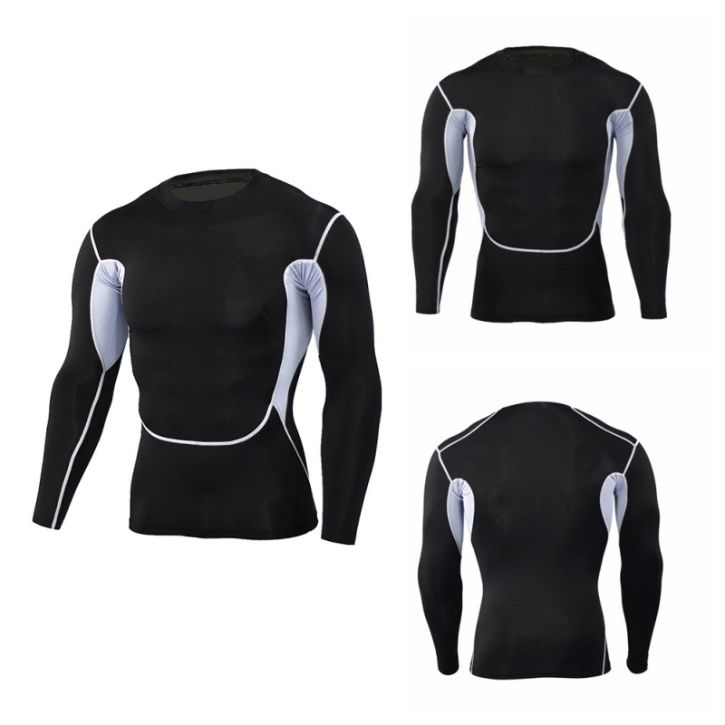 Men Sport Underwear Sets Compression Sweat Quick Drying Thermo Underwear Men Compression Fitness T-Shirt