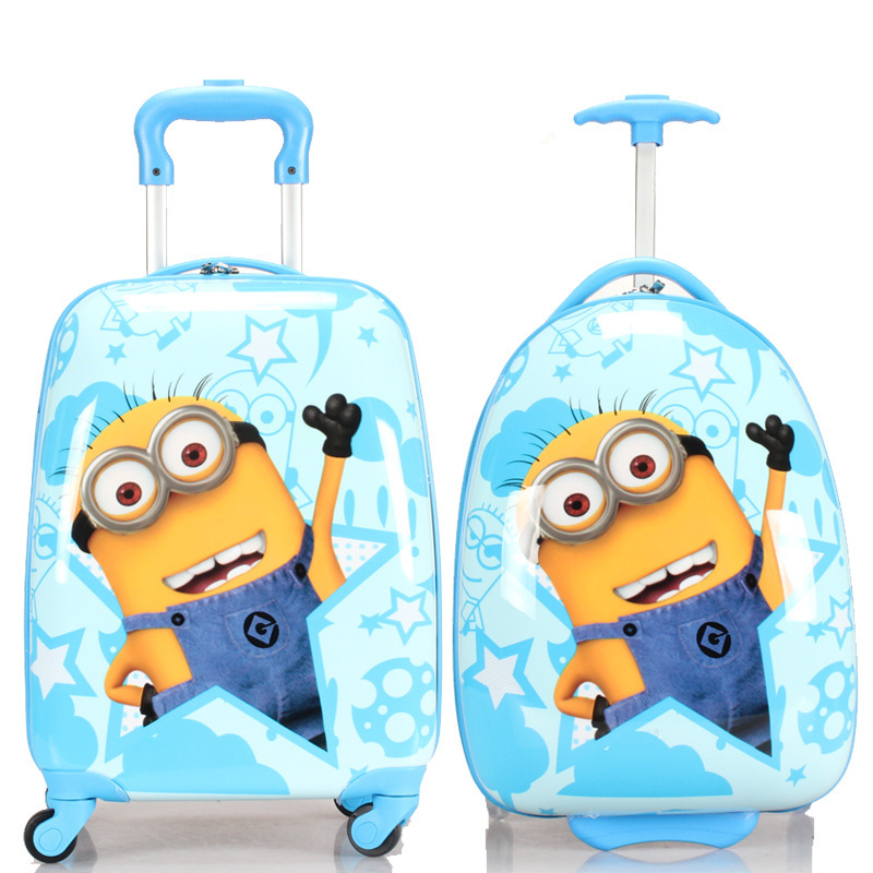 Boys Girls Minions Suitcase On Wheels/Kids Despicable Me Hardside ...
