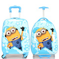 Boys Girls Minions Suitcase On Wheels/Kids Despicable Me Hardside Travel Luggage/Children Cartoon Design School Trolley Bags