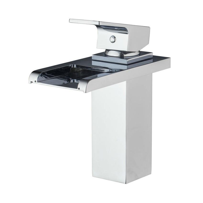 Modern Kitchen Bathroom Faucet Single Handle Single Hole Sink Faucet torneira Square Rectangle Faucet
