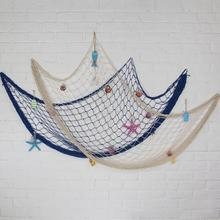 Mediterranean Style Fishing Net Wall Stickers Bar Party Sea Style Decoration Accessories Wall Stickers For Kids Rooms Supplies