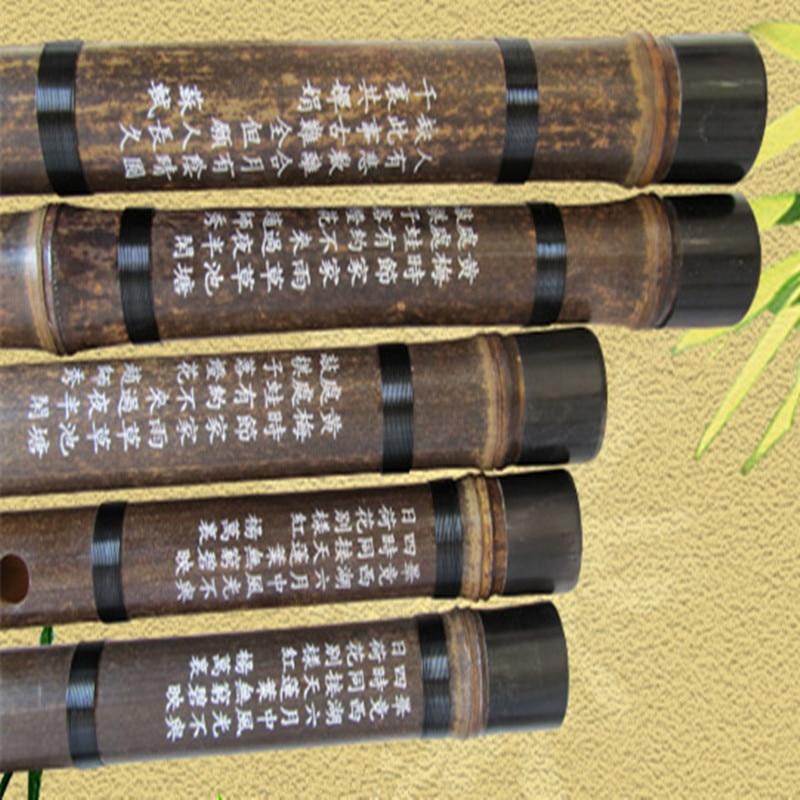 Çin bambuk fleyta musiqisi CDEFG düyməsini fleyta Flauta Bambu bir - Musiqi alətləri - Fotoqrafiya 3