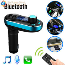 12 24V Wireless Bluetooth Car Kit Handsfree Auto FM Transmitter Music MP3 Player AUX Support Dual