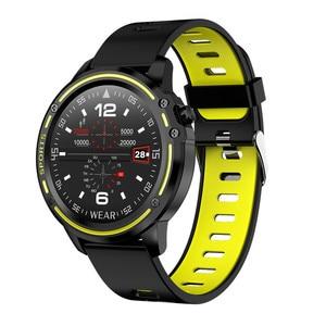 Image 4 - L8 ساعة ذكية IP68 مقاوم للماء Smartwatch موليتي الرياضة الرجال ECG PPG ضغط الدم سوار قياس معدل ضربات القلب