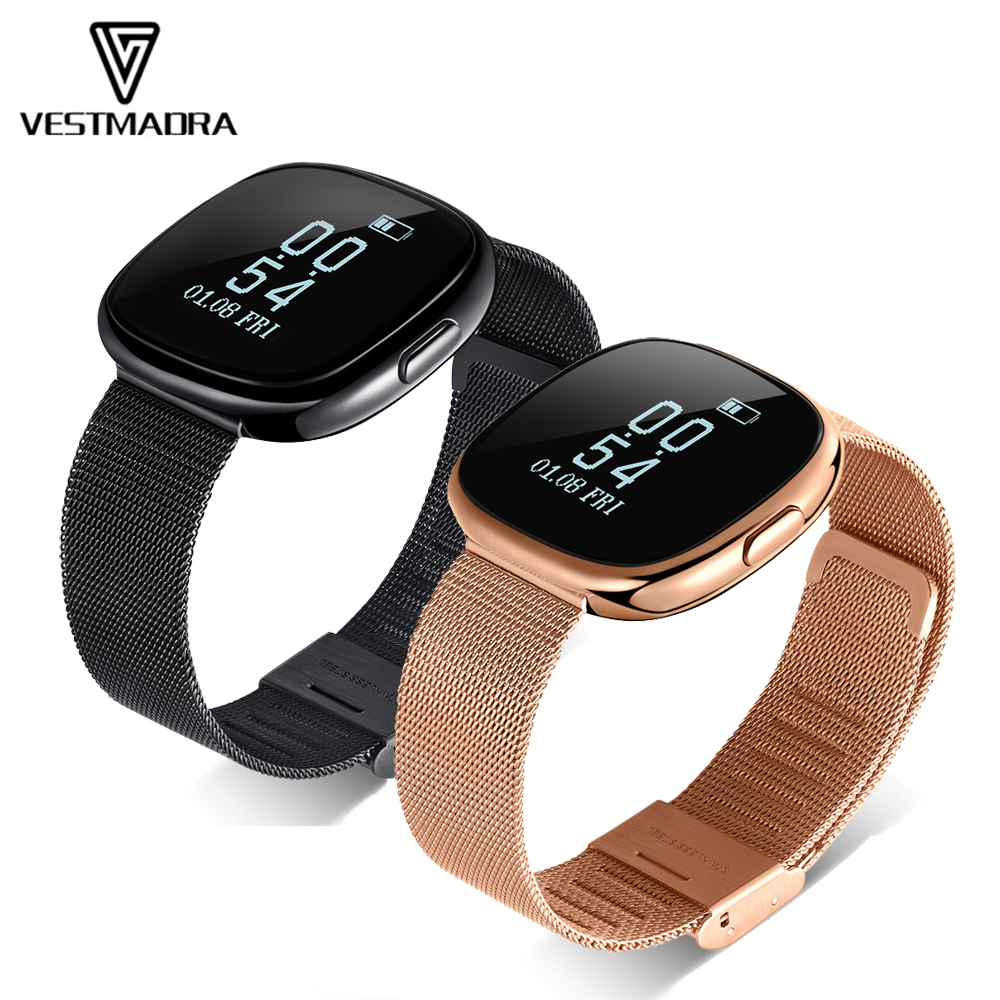 VESTMADRA Activity Tracker Waterproof Smart Bracelet Blood Pressure Pedometer Smart Wristband Heart Rate Pulse Monitor Smartband fashion women color screen smart band wristband heart rate blood pressure monitor fitness bracelet tracker smartband pedometer