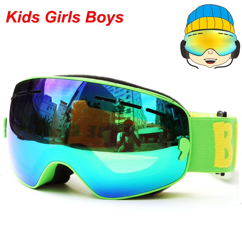 UV400 Anti-fog Gogle snowboardowe Dzieci Double Lens Ski Snow Okulary - Ubrania sportowe i akcesoria - Zdjęcie 6