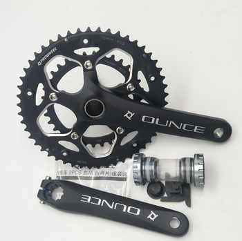 Aluminum Alloy Bicycle Fixed Gear Crankset 170mm 110 BCD Mountain Bike CNC Hollow Crank Chainwheel 34-50T Bracket - DISCOUNT ITEM  19% OFF All Category