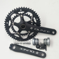 Aluminum Alloy Bicycle Fixed Gear Crankset 170mm 110 BCD Mountain Bike CNC Hollow Crank Chainwheel 34 50T Bracket