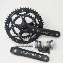 سبائك الألومنيوم دراجة ثابتة والعتاد Crankset 170 مللي متر 110 BCD دراجة هوائية جبلية الجوف CNC كرنك Chainwheel 34 50T قوس
