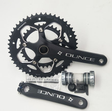 אלומיניום סגסוגת אופניים קבוע הילוך Crankset 170mm 110 BCD הרי אופני CNC חלול Crank Chainwheel 34 50T סוגר