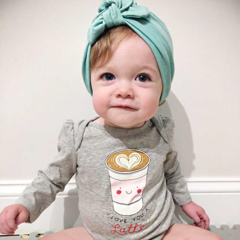 MIXIU mignon oreilles de lapin noeud enfants bébé filles bandeaux coton doux cheveux accessoires pour enfants cheveux Turban casque coiffure