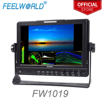 Feelworld FW1019 10.1 Inch IPS Field Monitor with Waveform Vectorscope Color Histogram 3G SDI DSLR Camera External LCD Monitor