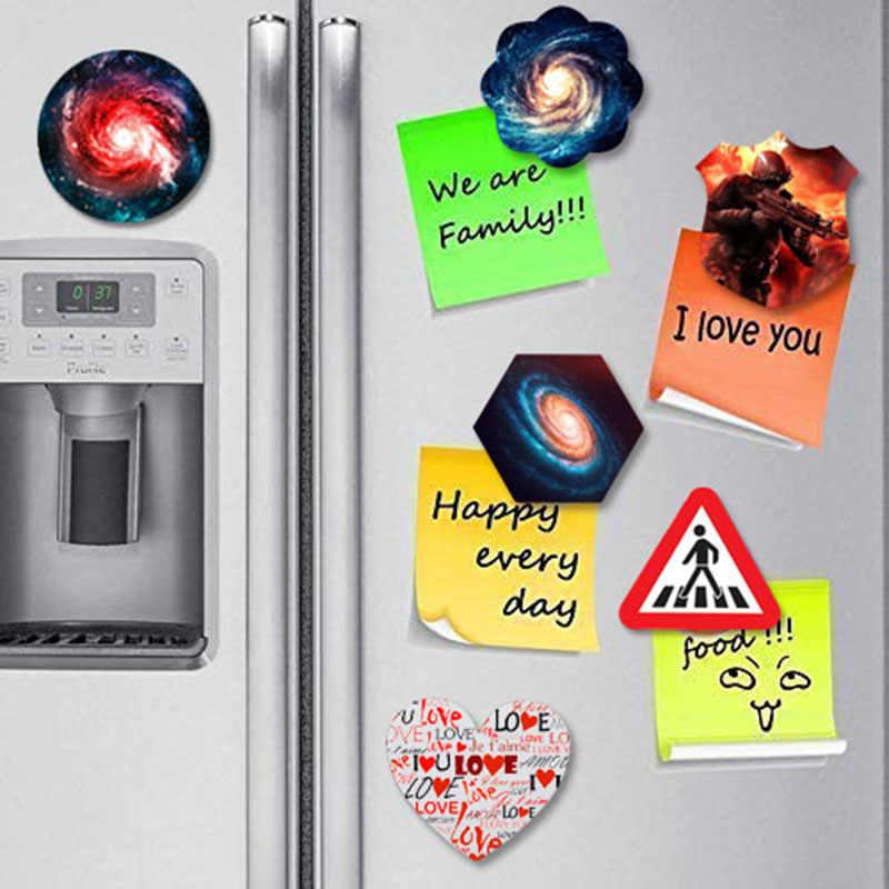 1 pièces différentes formes aimant de réfrigérateur personnalisé personnel votre famille Photo Individuation verre à faire soi-même autocollants magnétiques de réfrigérateur