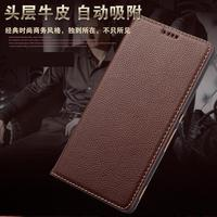 Real Genuine Leather Flip Cover Case For Sony Xperia Z4 Z 4 Z3 Cell Phone Luxury