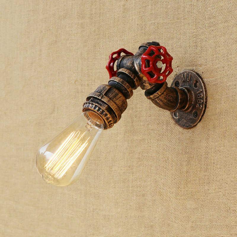 Vintage licht E27 Edison indoor wand lampe industrie lofe dampf punk rohr nacht treppen gang korridor cafe wand licht scoce bh