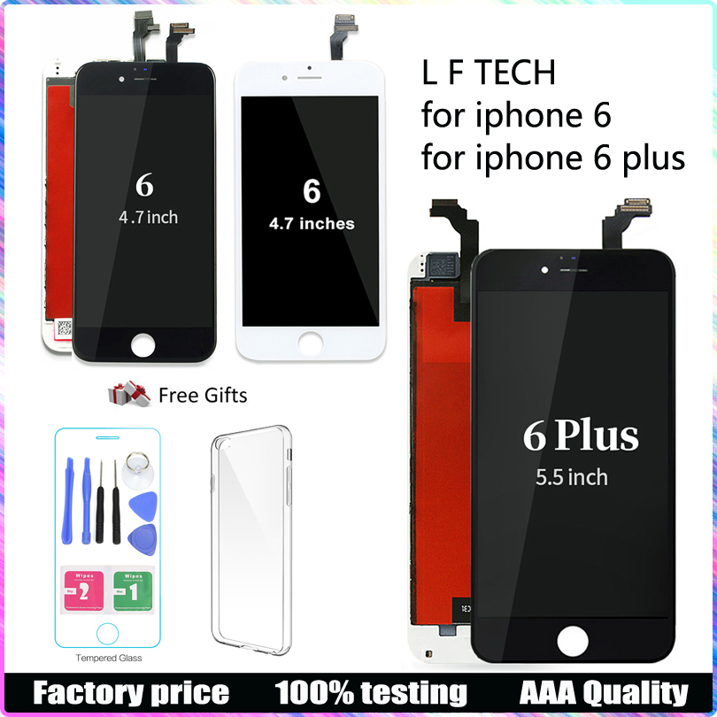 LCD Display For iphone 6 6 plus Screen and Touch Panel Digitizer lcd Assembly Replacement NO Dead Pixel in Mobile Phone LCD Screens from Cellphones Telecommunications