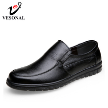 VESONAL 2019 Summer comfortable Slip On Genuine leather Loafers For Men Shoes Moccasins office Business Dress formal Male shoes
