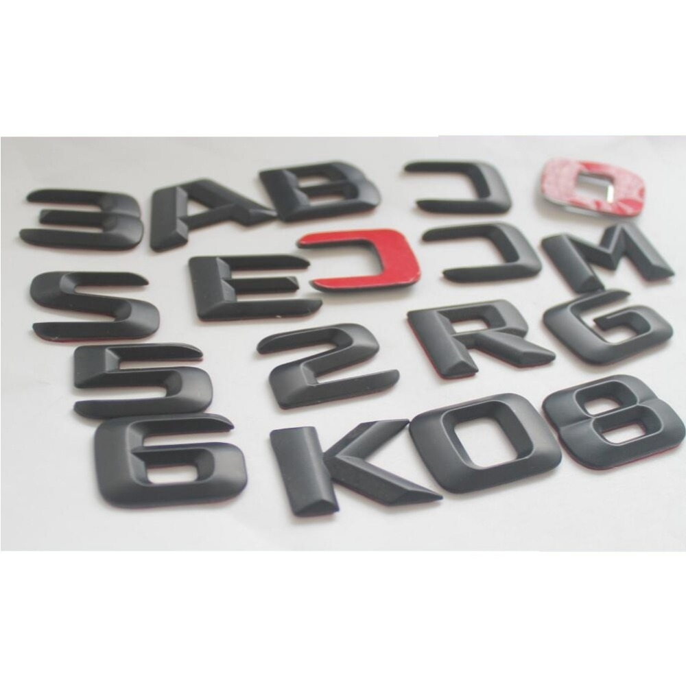 Matt Black  B 250  Car Trunk Rear Letters Word Badge Emblem Letter Decal Sticker for Mercedes Benz W246 W242 B Class B250