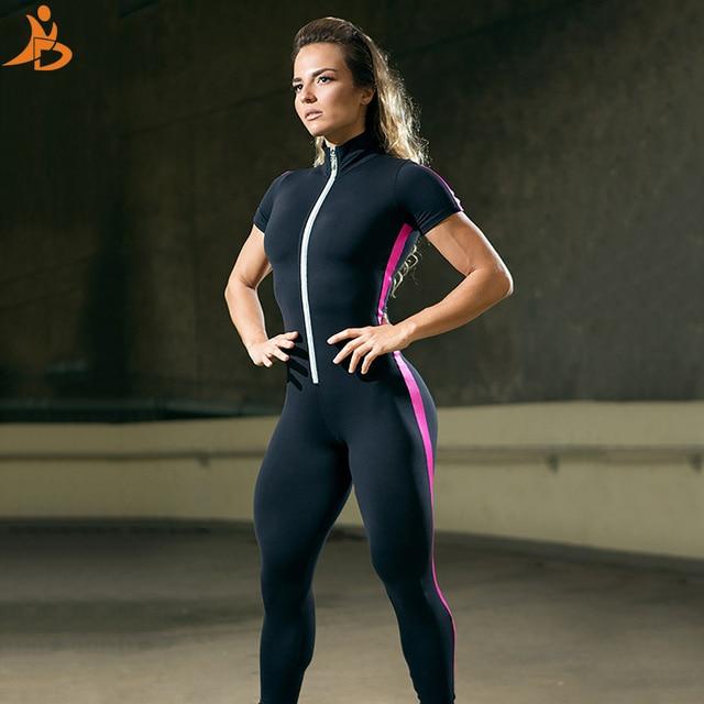 Chándal de manga corta con cremallera para mujer, ropa deportiva, ropa de entrenamiento, conjunto deportivo sin costuras, conjunto de Yoga elástico