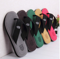 Low price Sales Summer men slippers EVA Leisure Soft Flip Flops light Canvas Beach Slipper and Sandals For Men Size 40-44