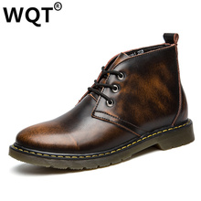 Black/Red/Brown 2016 British Style Fashion Men Military Ankle Boots PU Leather Chelsea Boots Bullock Rubber Sole Chelsea Shoes