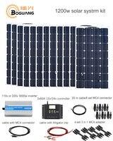 Boguang 1200 w солнечный Системы комплект 100 w панели солнечных модуль ячейки 120A контроллер 3000 w Инвертор Кабель MC4 разъем питания 12 В зарядки