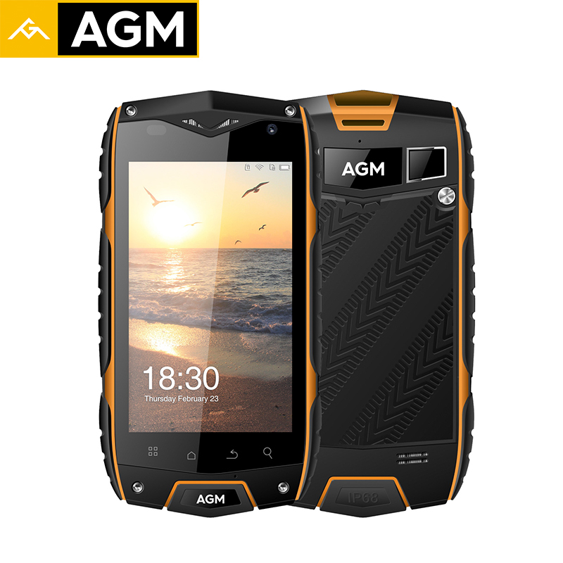 AGM A7 Smartphone IP68 Water Dust Shock Proof QUALCOMM MSM890 Quad Core 4G Lte Mobile Phones 16G ROM 2G RAM Android 6.0 OTG 8MP