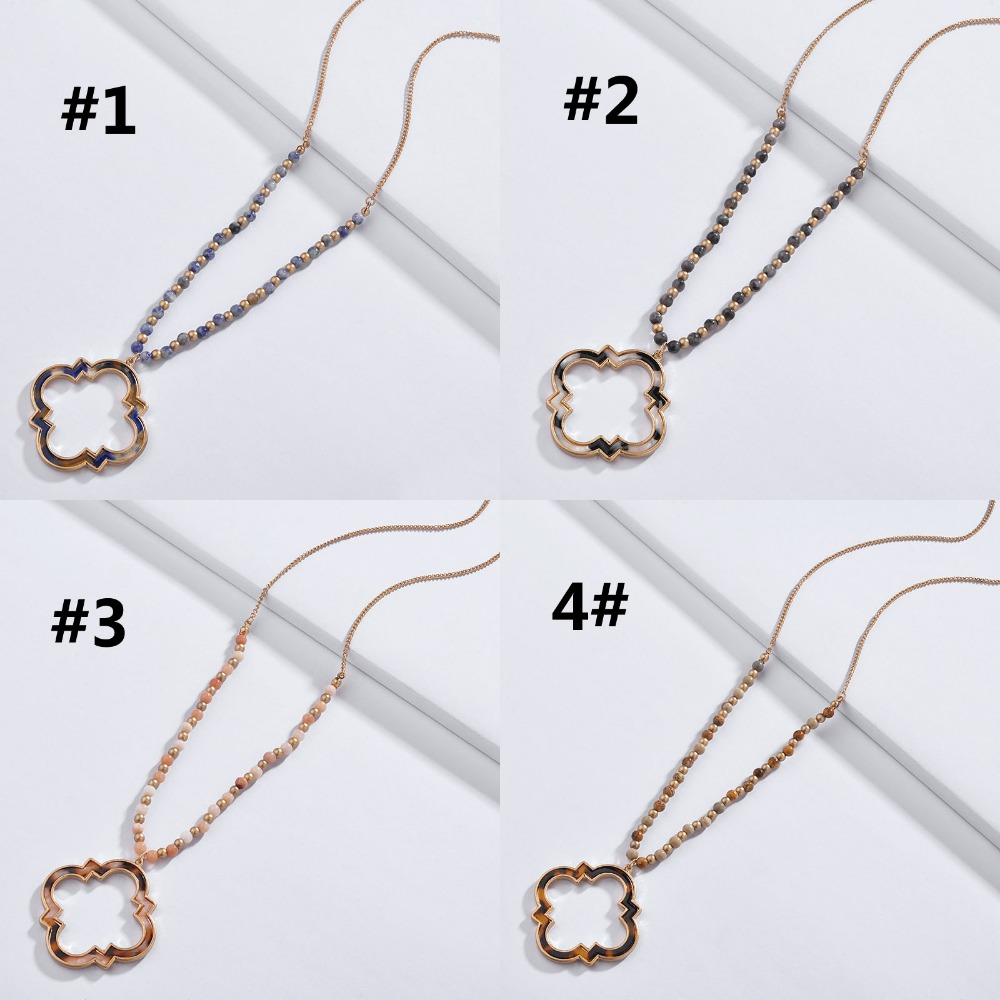 Fashion  Women/'s Quatrefoil Clover Lucky Design Stud Earrings and Necklace