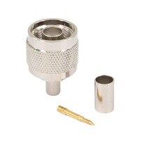 10 шт. n-тип Мужской Разъем 50-5 N разъем радиочастотный коаксиальный разъем для LMR300 5D-FB кабель N-50J-5 радиочастотный коаксиальный разъем