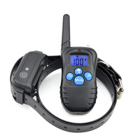 Pet Dog Training Collar 300m Remote Control Rechargeable Waterproof Electric Collar Static Shock Vibration Anti Bark For a Dogs
