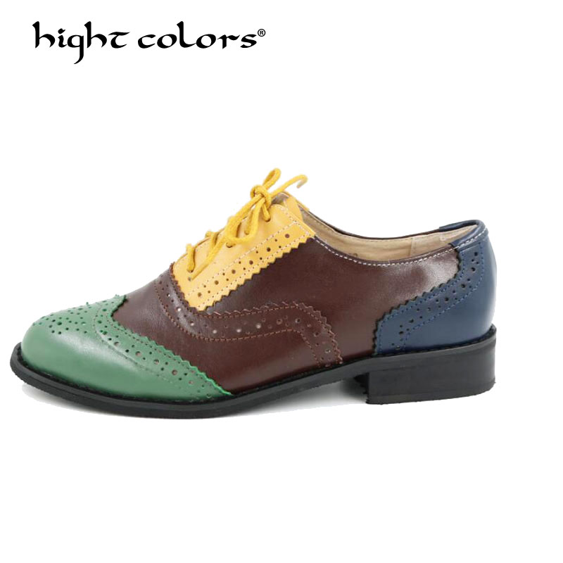 Vintage British Style Oxford Shoes For Women 100% Genuine leather Flat Shoes Women handmade Black Patent leather Brogue Shoes original handmade autumn women genuine leather shoes cowhide loafers real skin shoes folk style ladies flat shoes for mom sapato