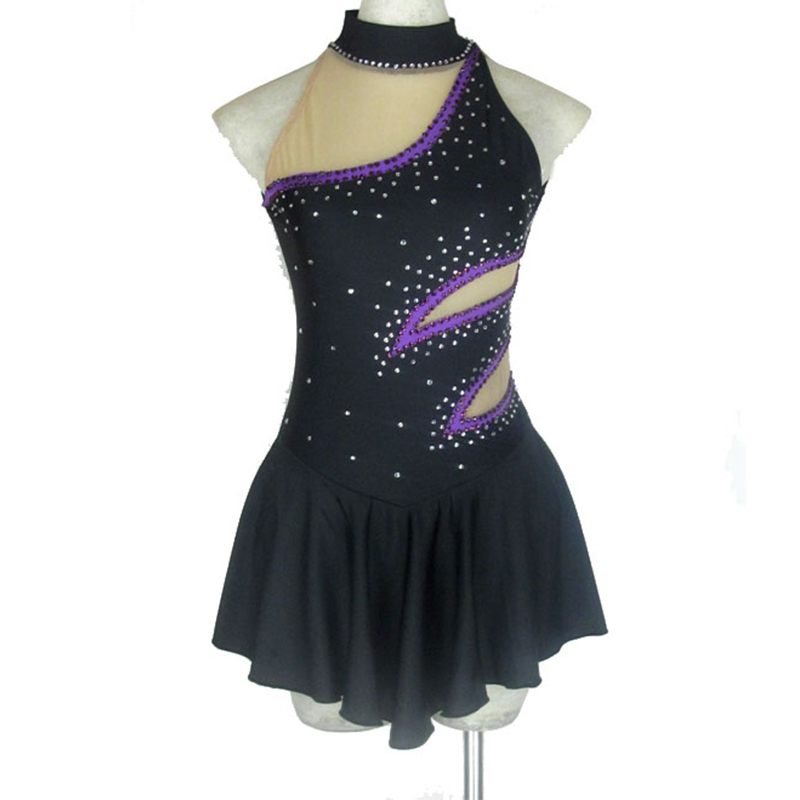 Customized Figure Skating Dress Spandex Material Rhythmic Gymnastics Leotard Handmade Dance Ice Skating Girl