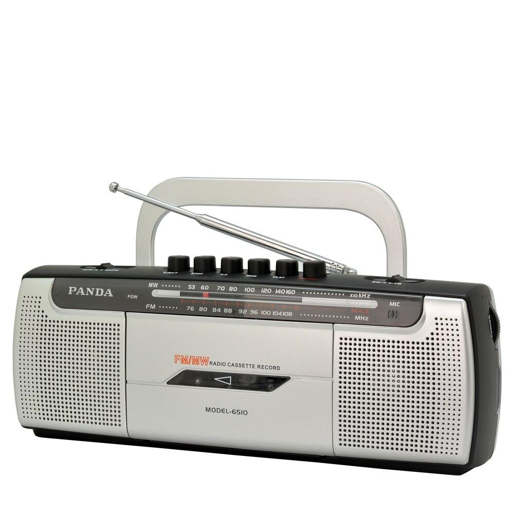 Panda 6510 Клейкие ленты Регистраторы Клейкие ленты Запись Радио Малый двойной Динамик Клейкие ленты выучить английский язык Playe R две группы Ра...