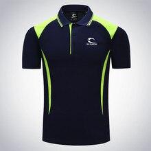 Новинка, Мужская одежда для тенниса, однотонная мужская футболка для фитнеса, бега, пробежки, спорта на открытом воздухе, бадминтон, футболка с коротким рукавом, дышащая футболка-поло